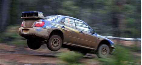 Petter Solberg ble slått av Sebastièn Loeb i fjorårets Rally Australia. I 2003 vant han. (Foto:www.swrt.com)