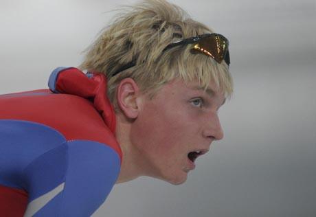 Håvard Bøkko fra Hol er skøytesportens nye yndling etter helgens innsats i Vikingskipet. Foto: Scanpix.