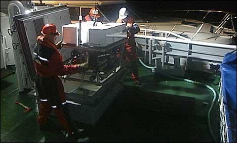 Miniubåten fann bilen på 31 meters djupn. (Foto: Steinar Lote, NRK)