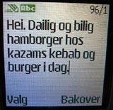 Eksempel på mobilreklame. Foto: NRK