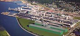 Her ut mot Vefsna planlegges anodefabrikken ved Elkem Aluminium i Mosjøen bygd. Foto/grafikk: Elkem