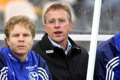 Ralf Rangnick på Schalke-benken. (Foto: AFP / SCANPIX)