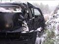 Ulykkesbilen kjørte med sommerdekk. Foto: Jan Harald Larsen/NRK