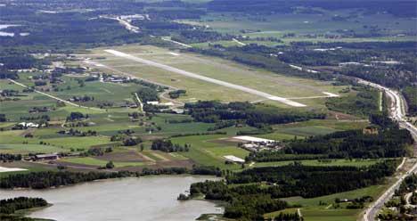 De første ruteflyene fra Rygge skal kunne ta av i 2006. Foto: Tor Richardsen / SCANPIX