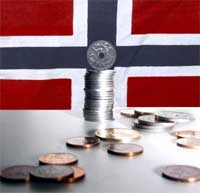 Kronekursen avgjør grensehandelen. Nordmenn handlet for 4 milliarder kroner på Svinesund og i Strömstad i 2002. Foto: Scanpix