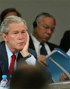 George W. Bush klarer ikke å finne ulovlige masseødeleggelsesvåpen i Irak. (Arkivfoto: AP/Scanpix)
