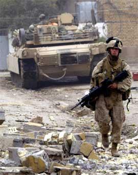 Amerikansk soldat i Falluja (Foto: Scanpix / AFP)