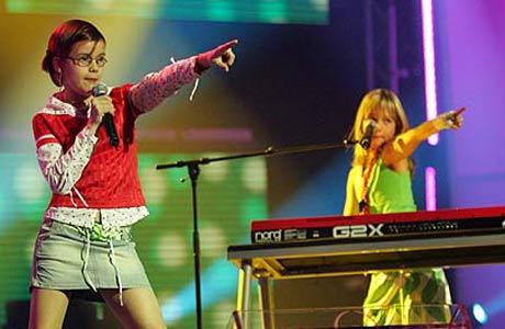 Klaartje & Nicky frå Nederland hausta stor applaus. (Foto: NRK)