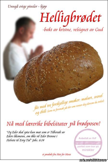 Mat for Moses satser på helsides annonser i dagspressen.