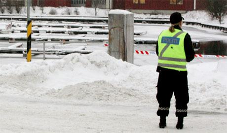 Området der kvinnet ble funnet er sperret av. (Foto: Morten F. Holm/SCANPIX)