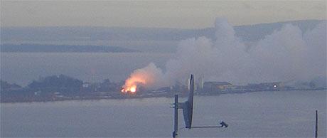 Brann på Langøya. Foto: Jarle Rogn Jacobsen.