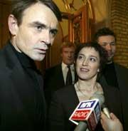 PÅ STORTINGET: Tove Steen med sin statssekretær Derek Thomassen.