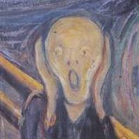 """""""Skrik"""" av Munch. Arkivbilde."""