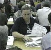 Manuell fintellingen av stemmer i Florida.