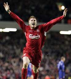 Neil Mellor reddet tre poeng for Liverpool på overtid. (Foto: REUTERS / SCANPIX)