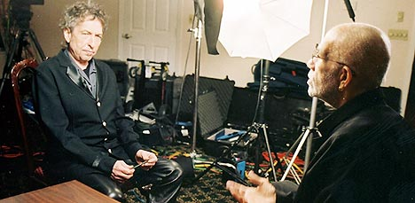 Bob Dylan ble intervjuet av Ed Bradley fra CBS-programmet 60 Minutes. Programmet kommer antagelig på TV2 15. desember. Foto: Aaron Tomlinson, Reuters.