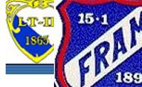 """Fram får nå samme fargekombinasjon på draktene som """"lokalfienden"""" Larvik Turn."""