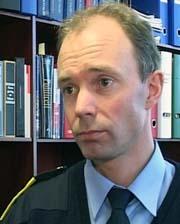 Politistasjonssjef Glenn Rhodén på Kongsberg.