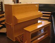 Det er dette orgelet som skal brukes inntil nytt er montert om et par år.