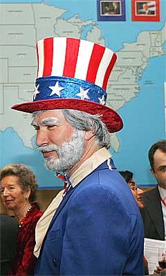 Uncle Sam er musikalsk. Foto: Scanpix.
