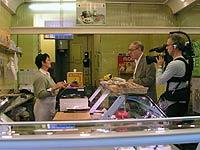 Henry Notaker i hestekjøttbutikk i Paris.