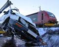 Nyland var bare 2-3 sekunder unna fra å bli påkjørt av toget. Foto: NRK
