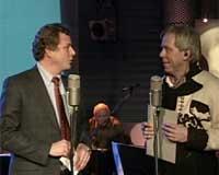 Kringkastingssjef John Bernander opna kanalen. Foto: NRK