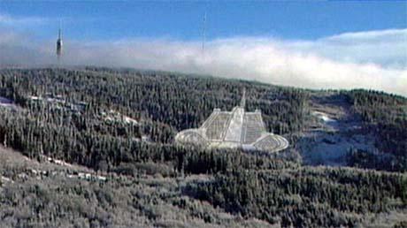 Slik er det nye anlegget i Rødkleiva i Oslo tenkt. Tryvann oppe til venstre.