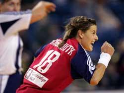 Linn-Kristin Riegelhuth er en viktig spiller for landslaget. Foto: Morten Holm, Scanpix.