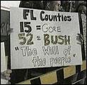 Bush-tilhengere mener det allerede er klart at George W. Bush er USAs neste president (Foto: APTN/Pool).