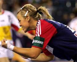 Norges Isabel Blanco i aksjon. Foto: SCANPIX .