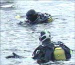 Dykkere utenfor Odderøya.