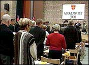 Kirkemøte i Trondheim (foto: Nrk).