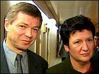Kjell Magne Bondevik og Hill-Martha Solberg (foto: Nrk)