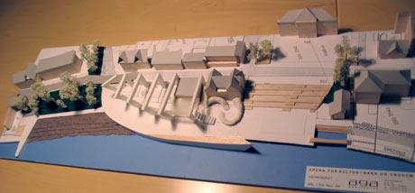 Modell av forslaget fra arkitektfirmaet AGA.