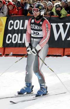 Kjetil Andre Aamodt ble beste norske med en 18. plass i søndagens storslalåm i Alta Badia. (Foto: Tor Richardsen / SCANPIX)