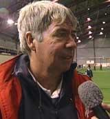 Egil Drillo Olsen var lite imponert over FFK etter treningskampen søndag.