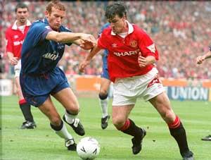 Erland Johnsen i FA-cupfinalen mot Man Utd. Chelsea tapte 0-4. (Foto: SCANPIX)