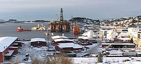 Ocean Vanguard ruvar godt der han ligg ved Vestbase i Kristiansund (Foto: Pål Kristian Lindseth)