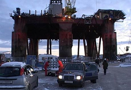 Petroleumstilsynet og ekspertar på flytande boreinstallasjonar gjekk om bord for å finne årsaka til skadane riggen fekk (Foto: Pål Kristian Lindseth)