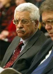 Abbas i Fødselskirken (Scanpix/AFP)