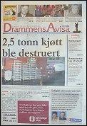 Torsdagens utgave av DrammensAvisa.