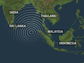 Tsunamien rammet en lang rekke land rundt Indiahavet.