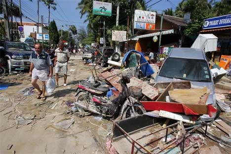 Øydeleggingane i Phuket. Foto: Scanpix/Reuters/Luis Enrique Ascui.