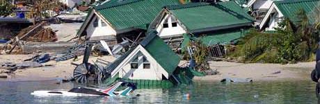 Phi Phi i Thailand etter flodbølgen. Foto: Scanpix