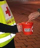 Hedmark og Oppland Røde Kors har samlet inn over to millioner kroner i helga.(Foto:NRK)