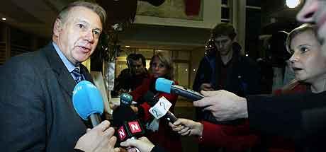 Fungerende leder i Nye Kripos, Arne Huuse fotografert på tirsdagens møte med pressen hos Kripos i Oslo. Foto: Erlend Aas / SCANPIX