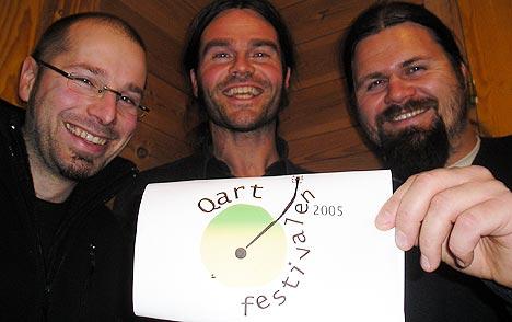 Qartfestivalstyret fra venstre: Jo Henning Kåsin, Øyvind Dahle og Bjørn Thore Andreassen. Foto:Sigrid Dahl.