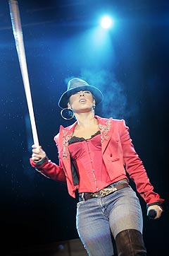 <b>Best betalt:</b> Alicia Keys er i følge Dagbladet den artisten Quart har betalt mest for, med 1.530.100 kroner. Foto: Heiko Junge, Scanpix.
