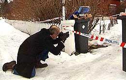 Politiet undersøker åstedet